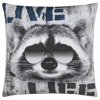 "Racoon Decorative Pillow 18"" X 18"""
