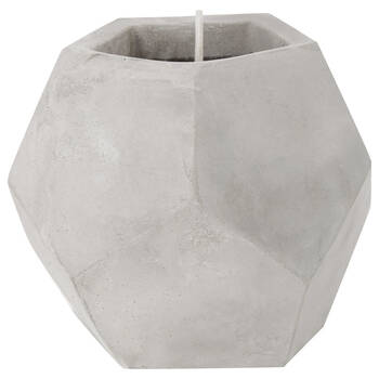 Geometric Cement Candle