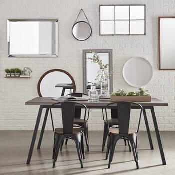 Miroir de style lin