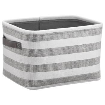 Striped Storage Basket With Handles