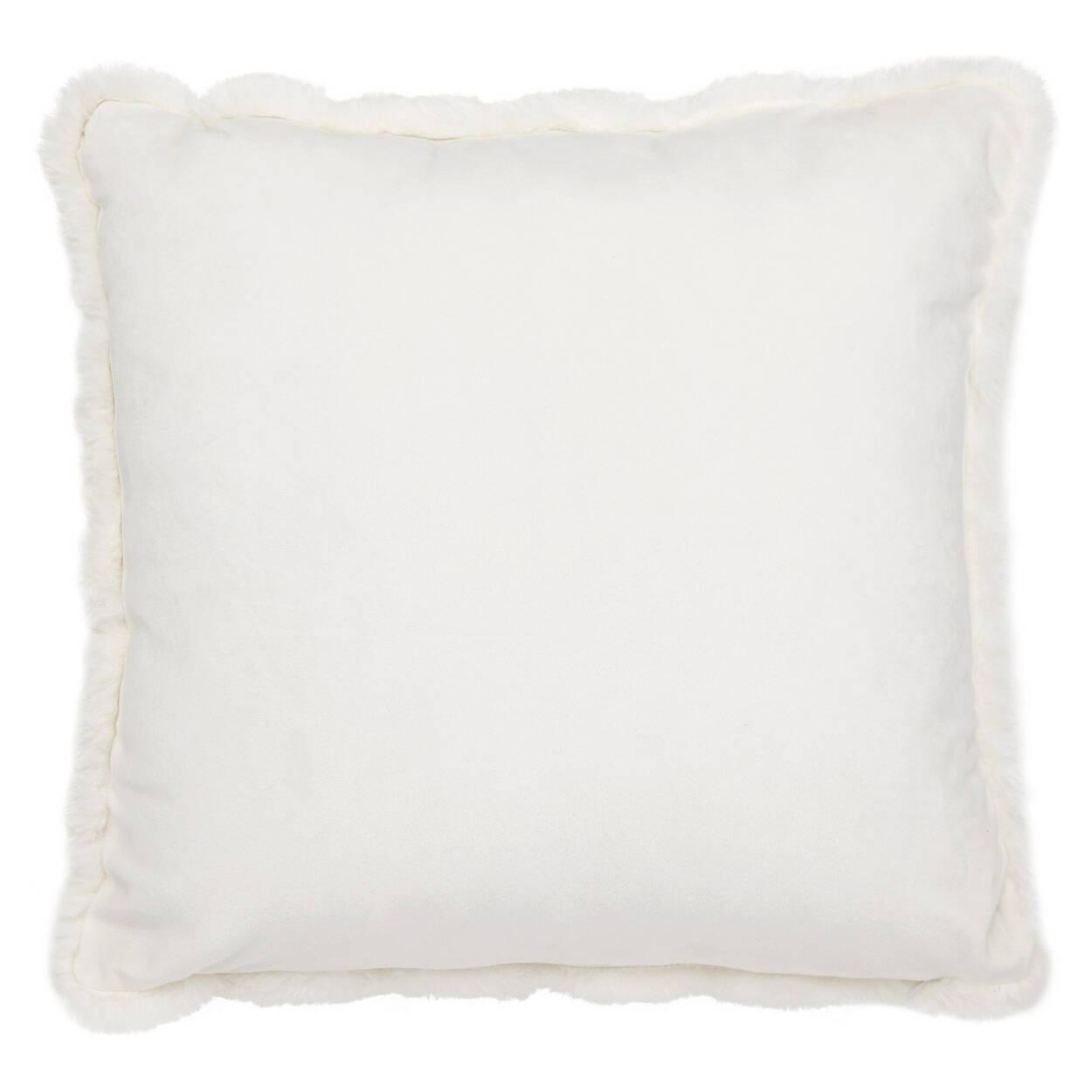 """Ruched Faux Fur Decorative Pillow 18"""" X 18"""""""