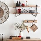 Set of 2 Hooks on Wood Plank