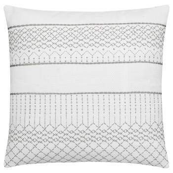"Sali Embroidered Decorative Pillow 18"" X 18"""