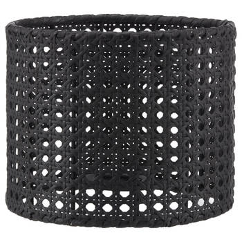 Caned Black Lampshade