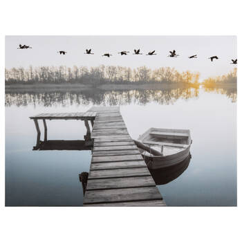 Dock Sunset Printed Canvas