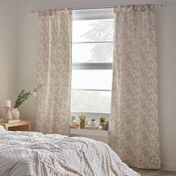 Leaf Printed Sheer Curtain