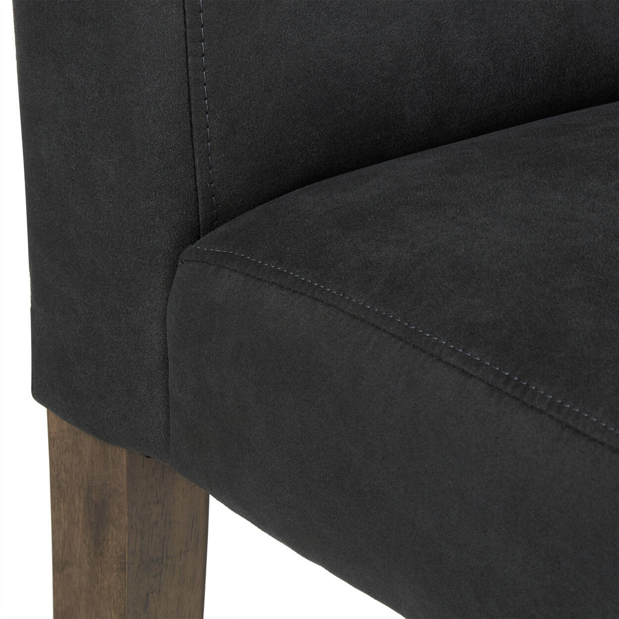 Faux Leather and Rubberwood Dining Chair