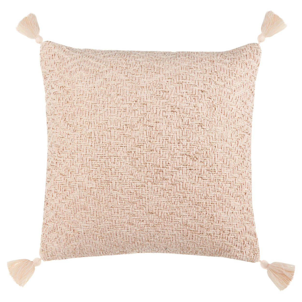 """Catalina Decorative Pillow with Tassels 17"""" X 17"""""""