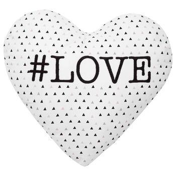 """Coussin décoratif en forme de coeur #Love 15"""" X 16,6"""""""
