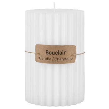 Ribbed White Candle