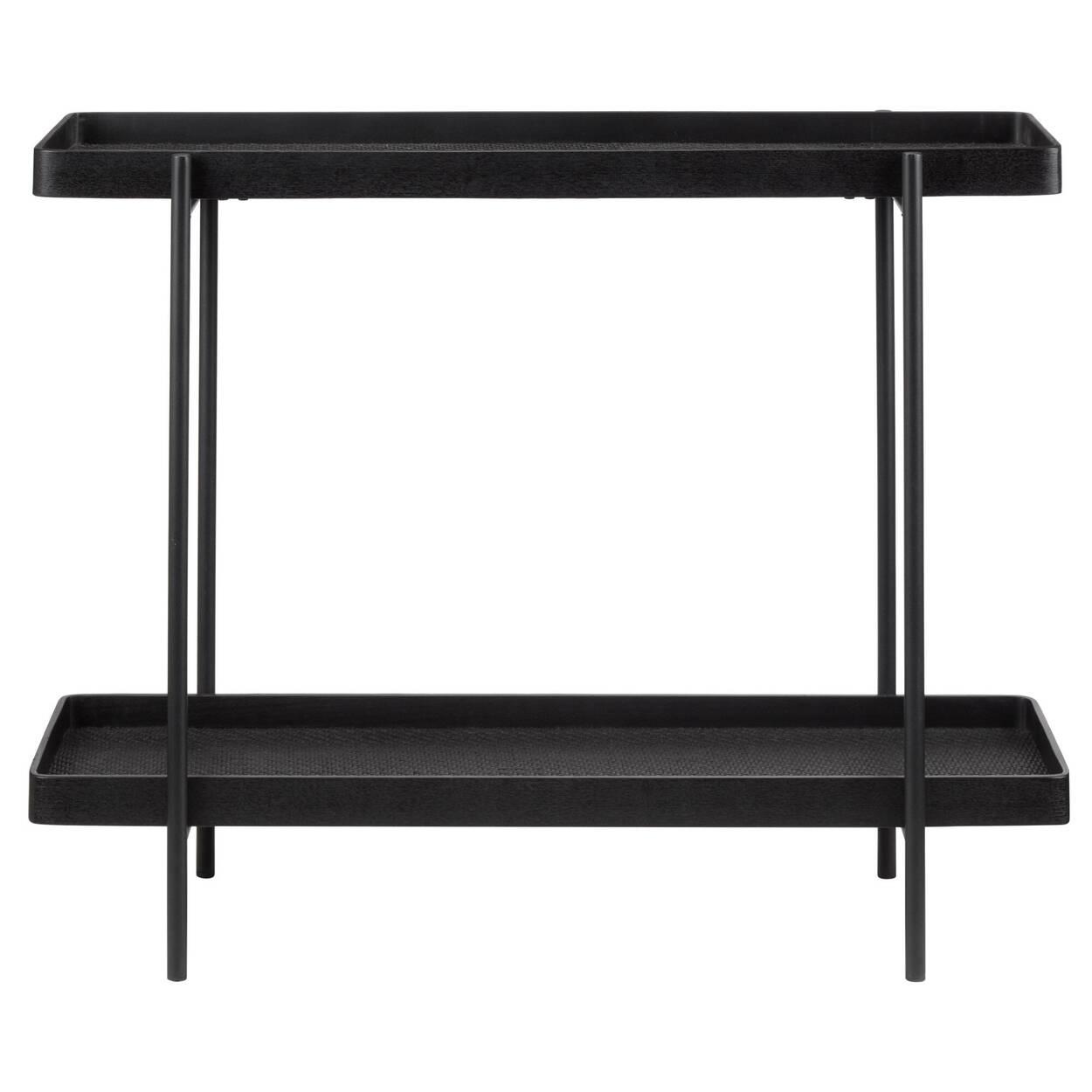 Black Woven Console Table