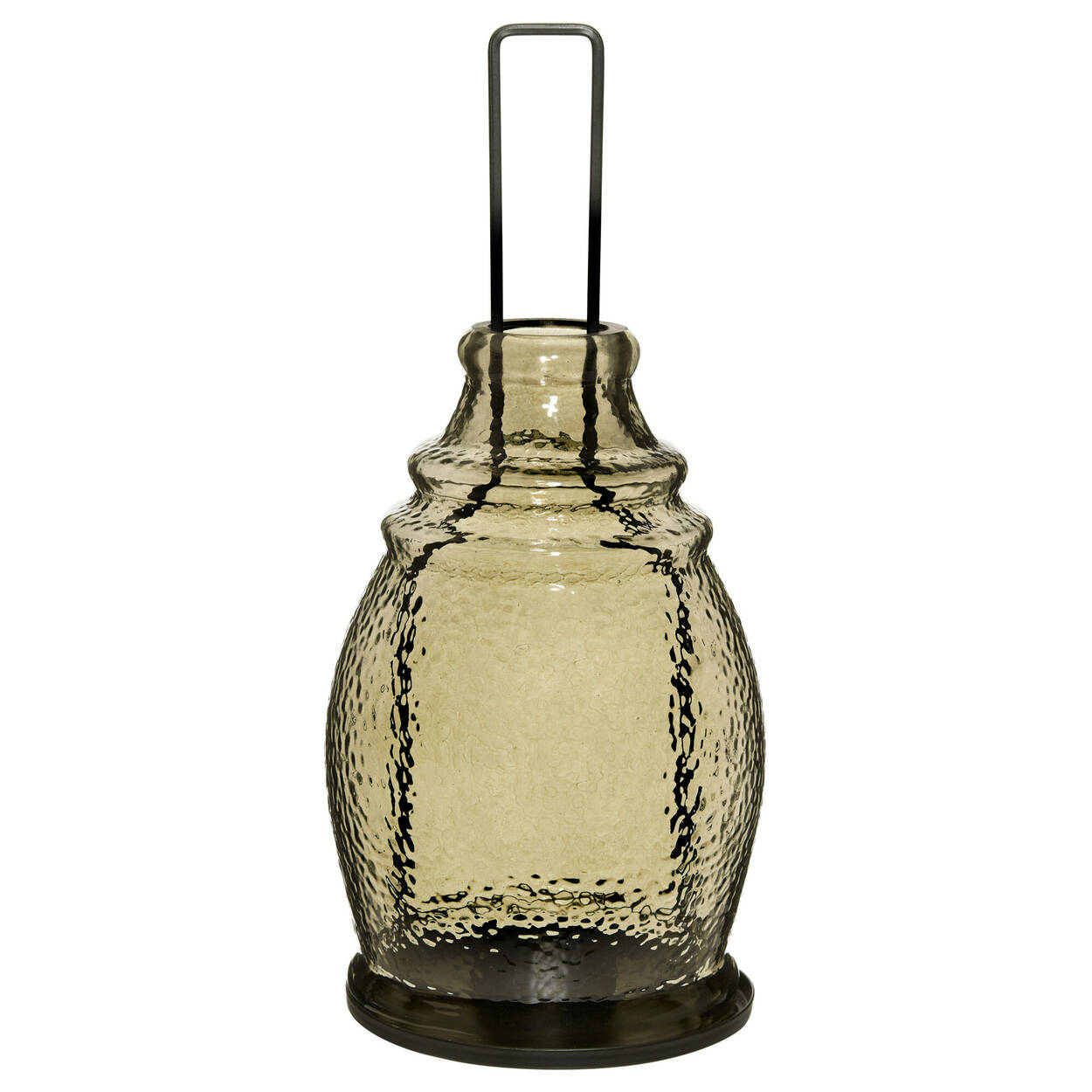 Glass and Metal Lantern Candle Holder