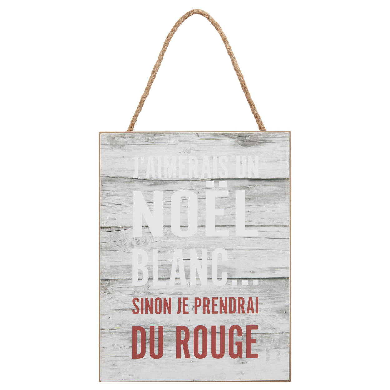 Noël Blanc Wall Plaque