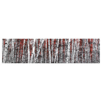 Red Birch Forest Canvas