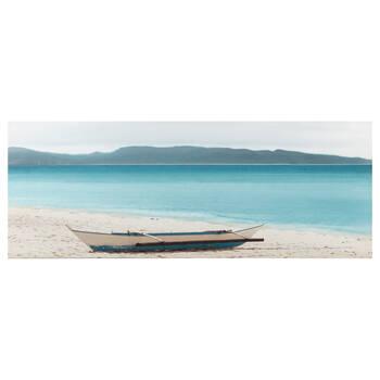 Tableau imprimé bateau sur la plage