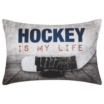 "Hockey is my Life Decorative Pillow 13"" x 20"""