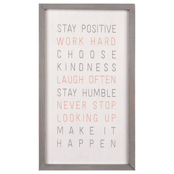 Cadre typographie Stay Positive