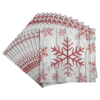 Pack of 20 Snowflake Paper Napkins
