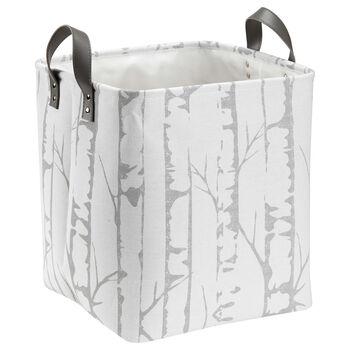Medium Birch Print Storage Basket with Handles