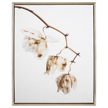 Delicate Flowers Printed Canvas