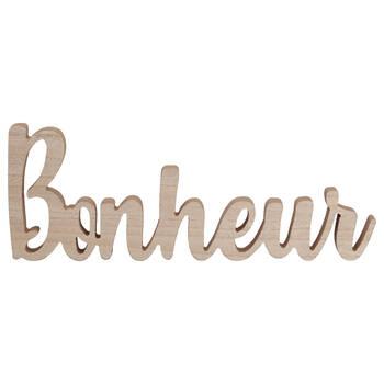 Mot décoratif Bonheur