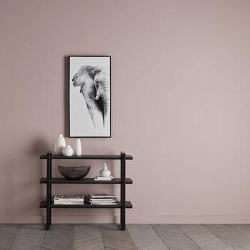 3-Shelf Veneer and Metal Console Table