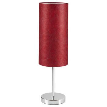 Metal and Satin Table Lamp