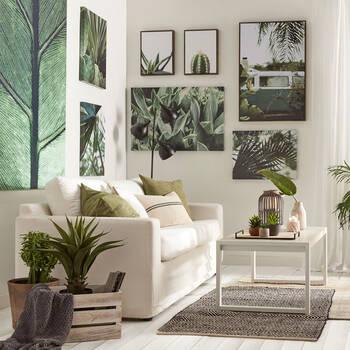 Prickly Pear Cactus Printed Canvas