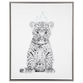 Leopard King Framed Art
