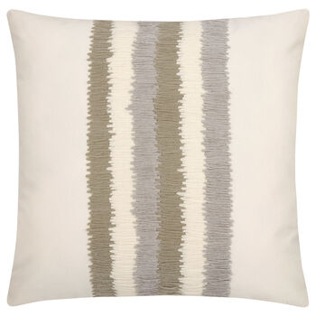 "Textured Stripe Decorative Pillow 18"" X 18"""