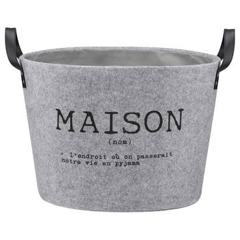 Large Bilingual Felt Basket