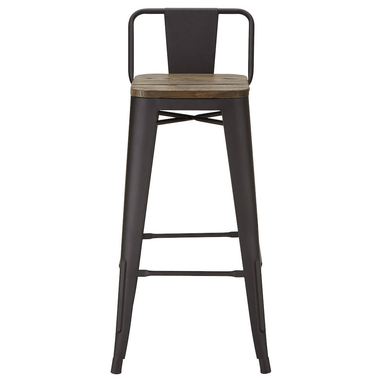 Solid Elm Wood And Metal Bar Stool Bouclair Com