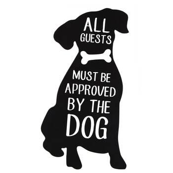 Plaque de chien décorative avec typographie