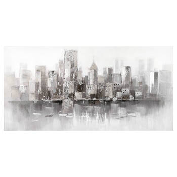 Oil Painted City Canvas