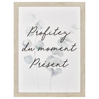 Profitez du Moment Présent Printed Framed Canvas