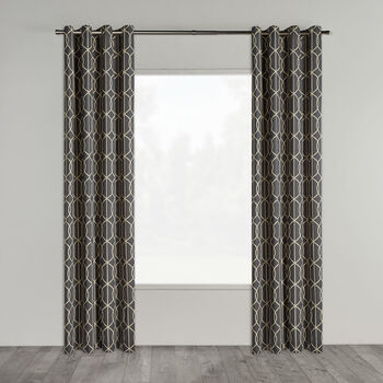 Enda Geometric Pattern Curtain