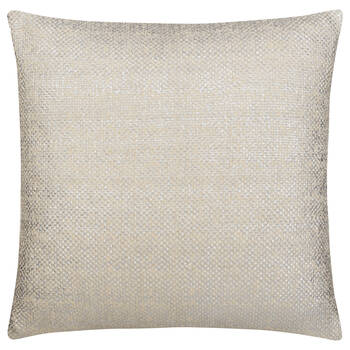 """Adria Knitted Decorative Pillow with Foil Embellishments 19"""" X 19"""""""