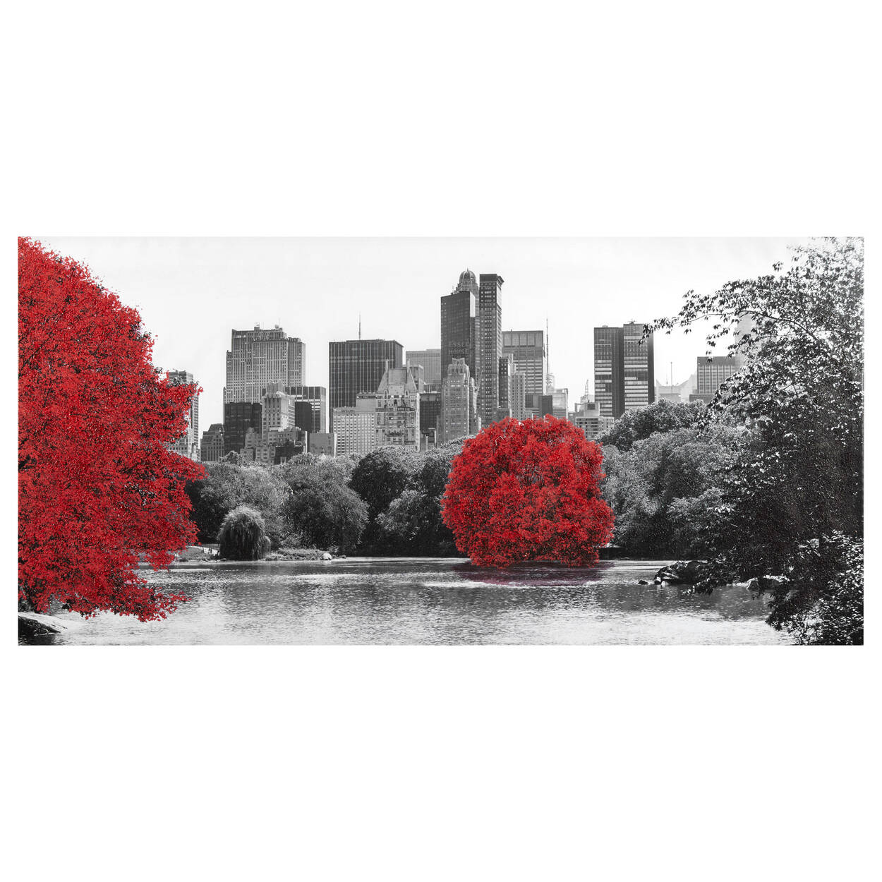 Central Park Printed Canvas with Gel Embellishment