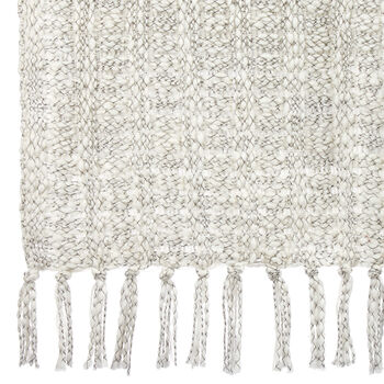 "Addie Two-Tone Throw with Tassels 50"" X 60"""