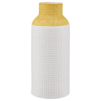 Vase en céramique gaufrée deux tons