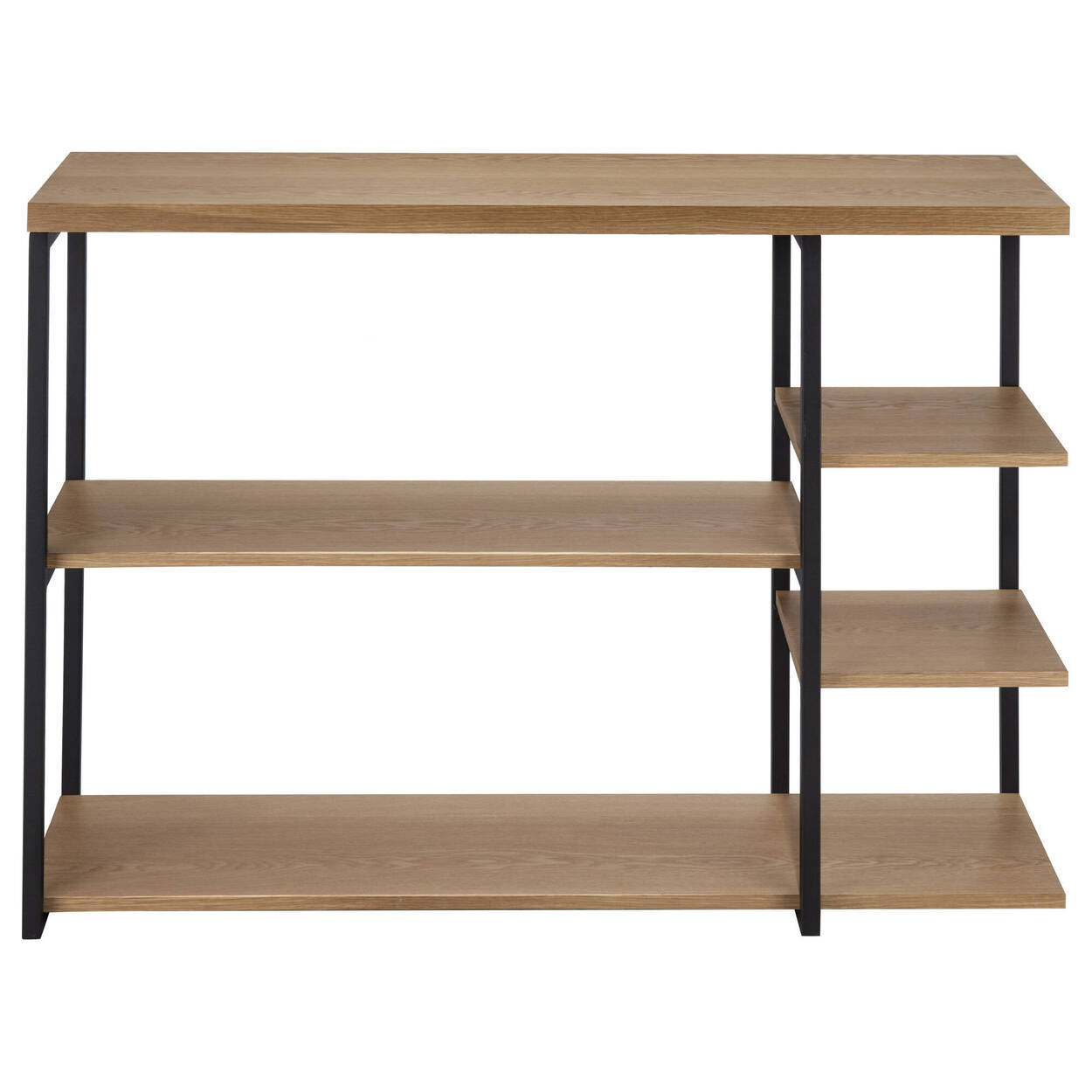 Wood and Metal Console Table