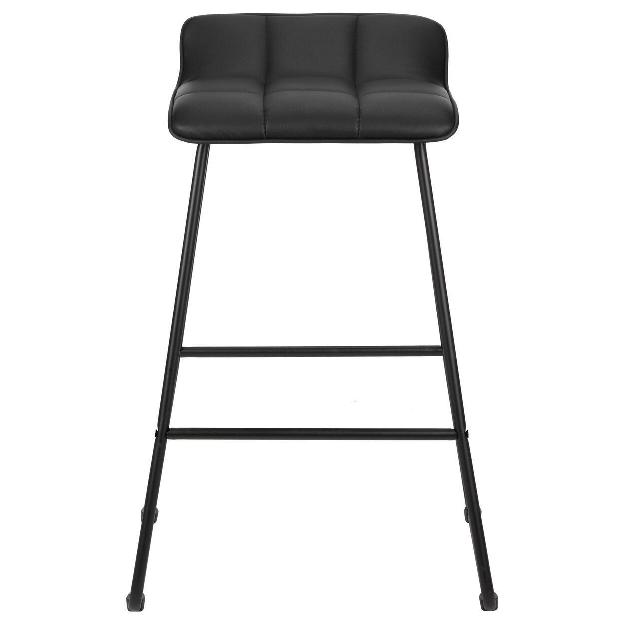 Faux Leather and Metal Counter Stool
