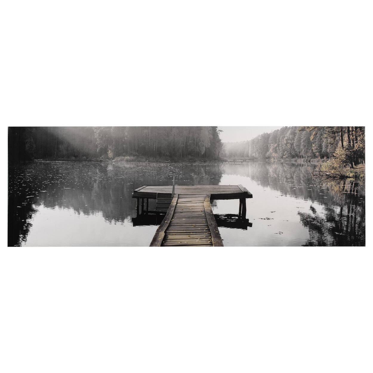 Tableau imprimé lac calme