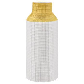 2-Tone Ceramic Waffle Vase