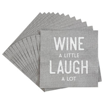 Pack of 20 Wine A Little Paper Napkins