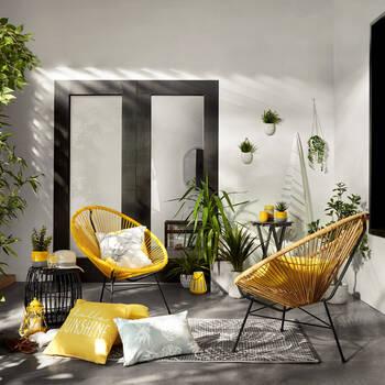 """Coussin décoratif lombaire imprimé ananas 13"""" x 20"""""""