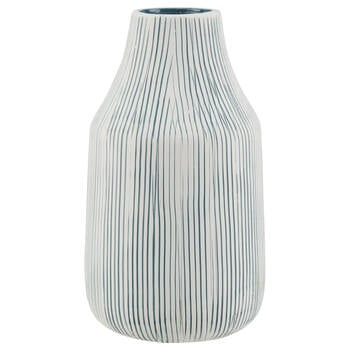 Striped Ceramic Table Vase