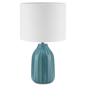 Ceramic and Linen Table Lamp