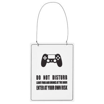Do Not Disturb Metal Wall Plaque