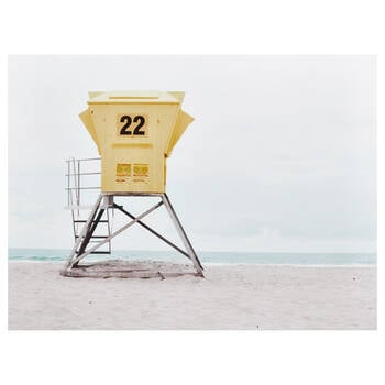 Lifeguard Hut Printed Canvas